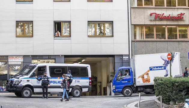 La policia al lloc dels fets
