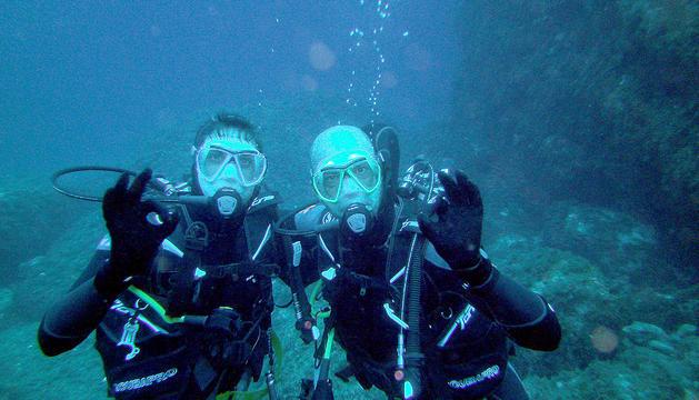 Xavier Herver és un apassionat del submarinisme