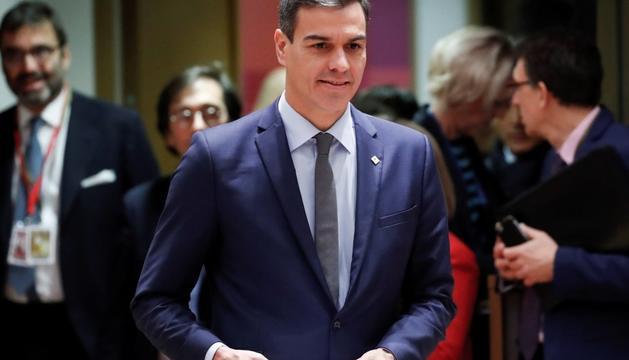 Pedro Sánchez, ahir a la cimera de la UE a Brussel·les.