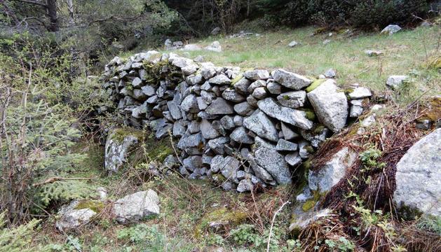 Plaça carbonera de la vall del Madriu.