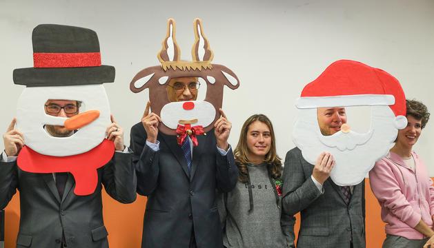 Martí, Espot i Jover visiten per Nadal l'Escola Meritxell