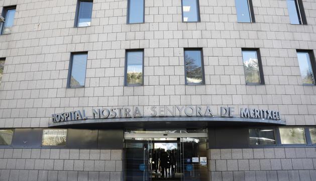 Façana de l'hospital Nostra Senyora de Meritxell.