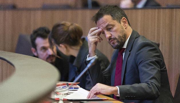 Pere López en una sessió de Consell General