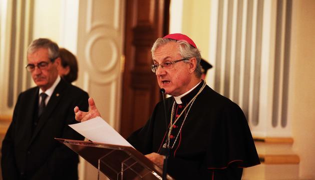 Recepció de Nadal del Copríncep episcopal, aquest migdia