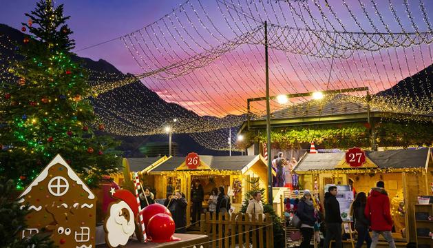 El Poblet de Nadal, a la plaça del Poble de la capital.