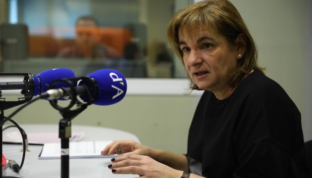La cònsol escaldenca durant l'entrevista a la ràdio del Diari.