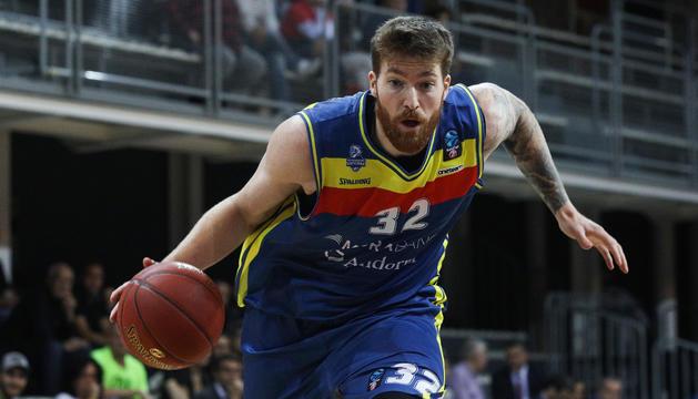 Shayne Whittington, en un partit d'aquesta temporada amb el MoraBanc Andorra.