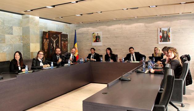 Un moment del consell de comú d'Ordino d'avui