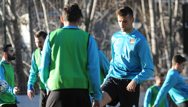 Adrià Vilanova va realitzar dissabte el primer entrenament sota les ordres de Gabri i Jorquera.