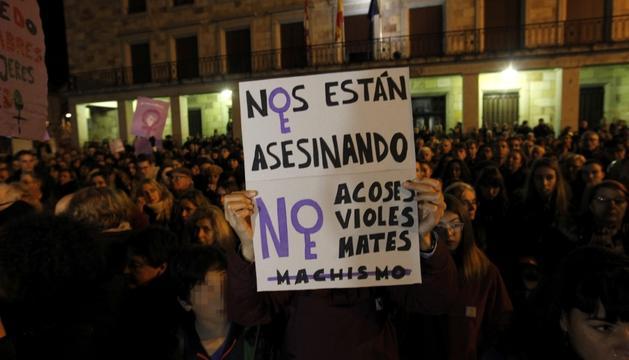 Manifestació contra la violència masclista.
