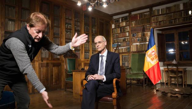 El cap de Govern, Toni Martí, va transmetre el seu últim missatge de Cap d'Any.