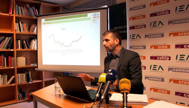 Roda de premsa de la lectura dels resultats del CRES