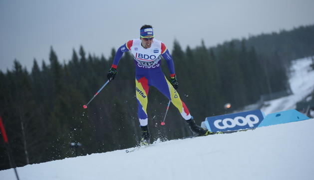 Irineu Esteve es troba competint al Tour d'Ski.