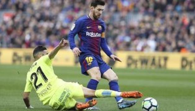 Messi en un matx davant el Getafe.