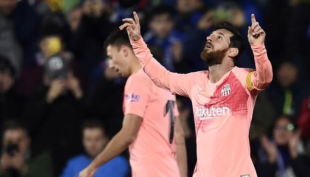 Messi durant una jugada de l'última jornada