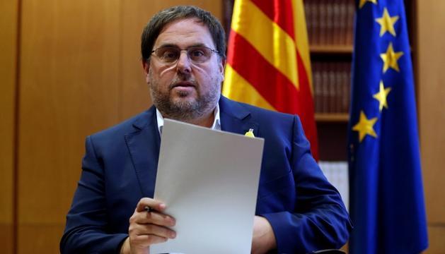 """Oriol Junqueres afirma sentir-se """"fort"""" per afrontar el judici."""