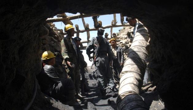 Interior d'una mina d'Afganistan.
