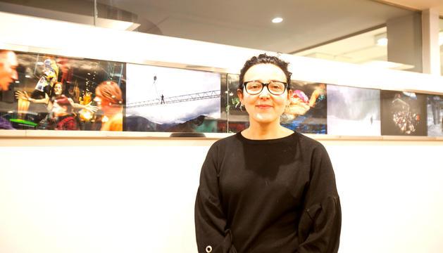 Aurora Baena, secretària de l'associació feminista, a la redacció del 'Diari d'Andorra'.