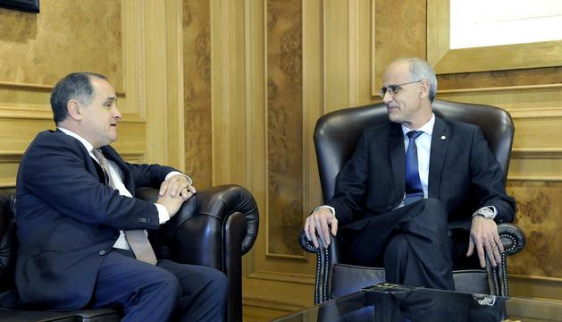Reunió entre Toni Martí i Paulo Pisco, aquest matí