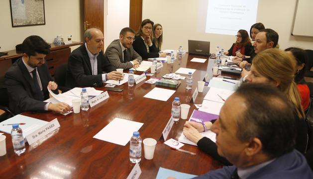 Reunió de la comissió nacional de prevenció de la violència de gènere, aquest matí
