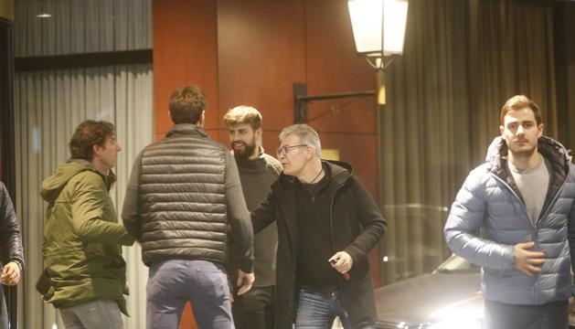 Joan Piqué a la salida de la reunión con la plantilla del FC Andorra viernes