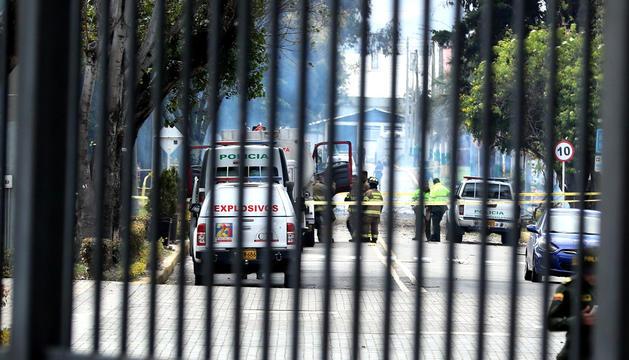L'atac es va produir a l'aparcament de l'escola general de policia.