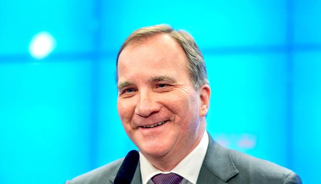 Stefan Löfven, ahir al Parlament de Suècia.
