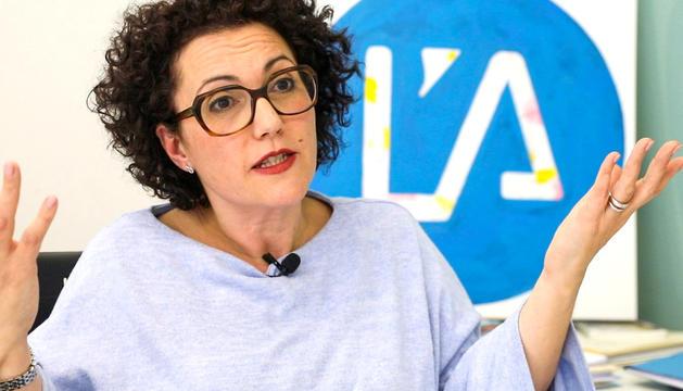 La conseller general dels liberals Judith Pallarés, durant l'entrevista al seu despatx.