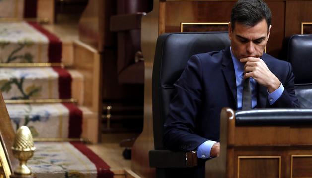 El president del Govern espanyol, Pedro Sánchez, en el Congrés.