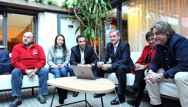 Nomen amb la resta de membres d'Andorra Sobirana, ahir.