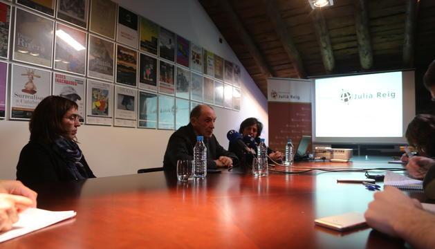 Un moment de la roda de premsa de la presentació de les accions de la Fundació durant aquests anys