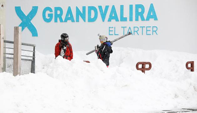 Esquiadors al sector del Tarter, avui