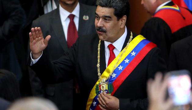 Nicolás Maduro, a la seva arribada a la seu del Tribunal Suprem, ahir.