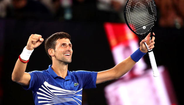 Djokovic en una imatge del partit d'ahir