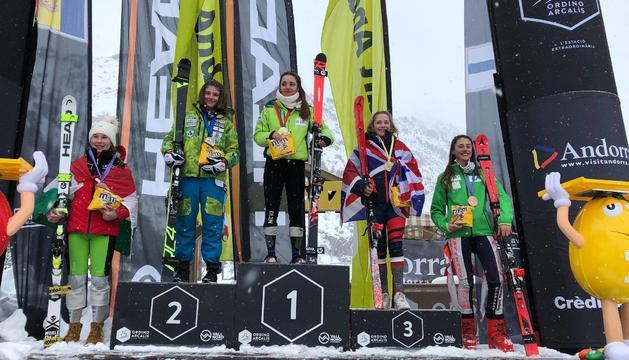 L'esquiadora Aina Martí ocupa el primer lloc del podi
