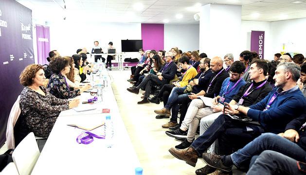 Un moment del consell ciutadà estatal de Podem, ahir.