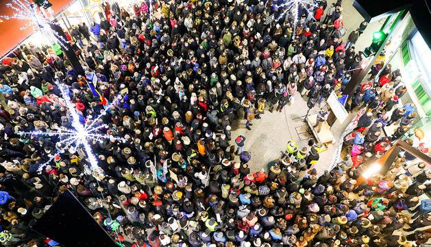 Vista general de la manifestació a la capital el 17 de desembre passat.