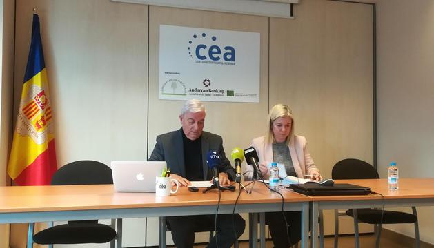 Gerard Cadena, president de la CEA, i Elena Redondo, advocada i secretaria de l'entitat
