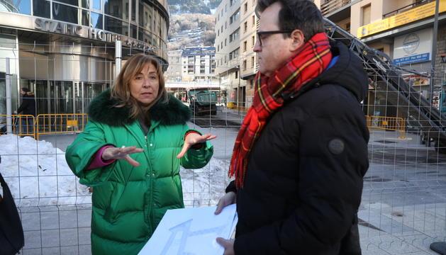 La cònsol major de la capital, Conxita Marsol, amb el