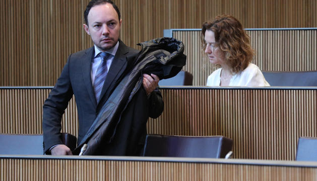 El ministre Xavier Espot, durant la sessió d'avui del Consell General