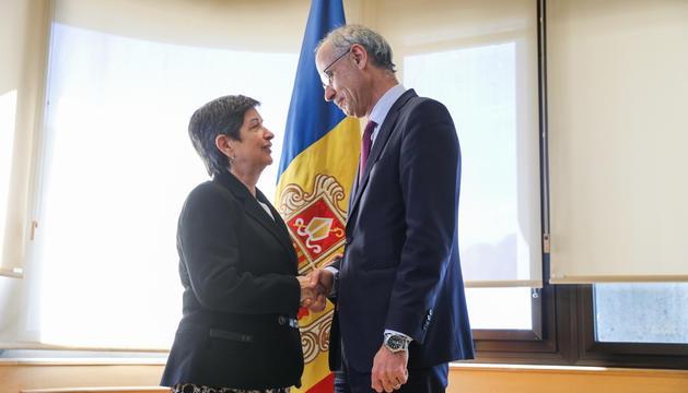 Teresa Cunillera i Toni Martí, moments abans de la reunió