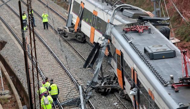Els dos trens van impactar frontalment a Castellgalí.