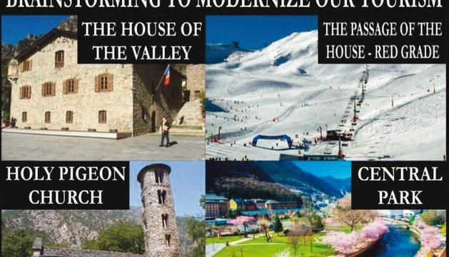 Monuments i indrets del país renombrats en anglès. Una de les bromes que han circulat per xarxes.