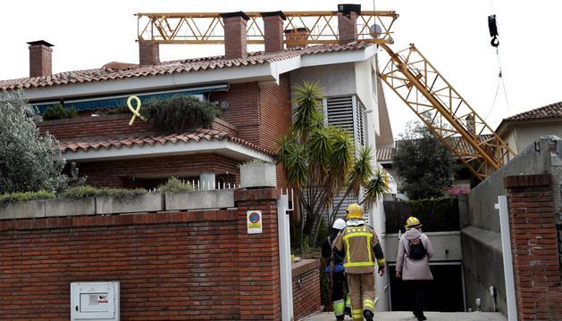 Els Bombers de la Generalitat en el lloc dels fets.