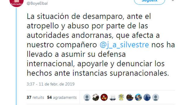 Silvestre porta Andorra davant dels tribunals internacionals