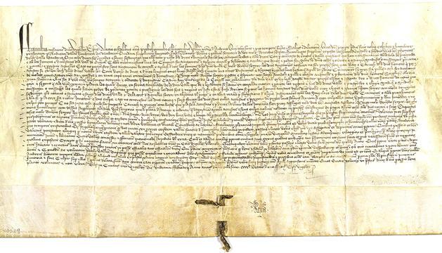 Document original del privilegi del 1914 conservat a l'Arxiu Nacional