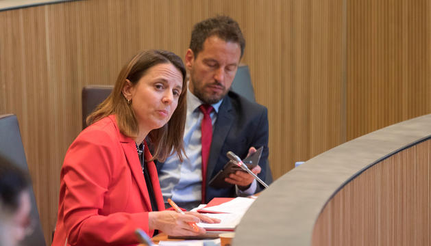 Els consellers generals Rosa Gili i Pere López.