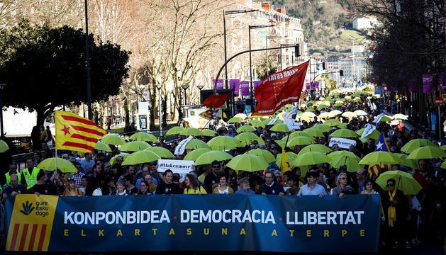 Vista de la manifestació.
