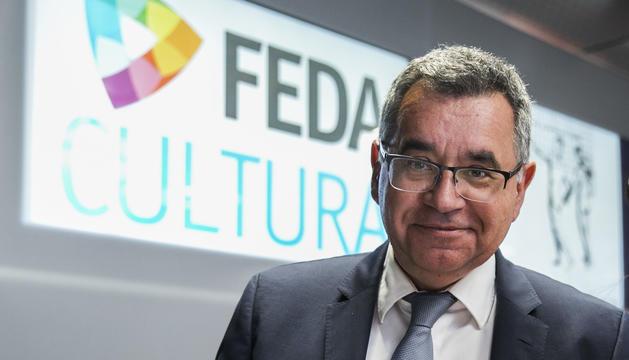 El director general de FEDA, Albert Moles, a la seu de la parapública a Encamp.