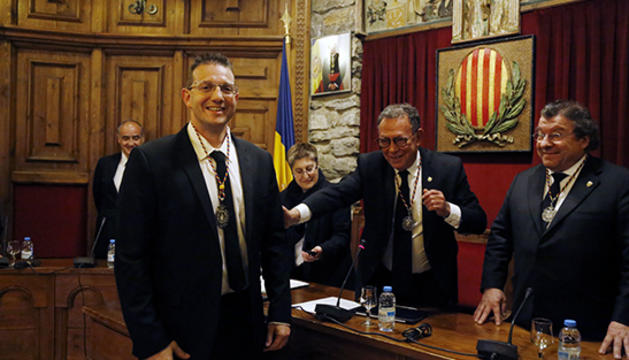 Josep Lluís Donsión durant el jurament com a nou conseller de Cultura